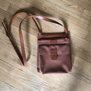 Vintage Faux leather cross body mini satchel